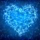 Blue Plexus Valentine's Day Heart Background  - VideoHive Item for Sale