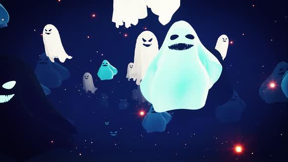 Halloween Ghosts 4k