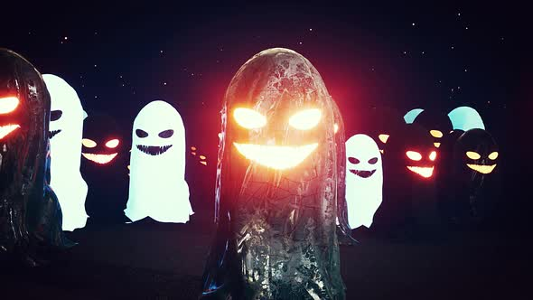 Scary Halloween Ghosts