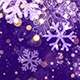 Christmas Violet Snowflake Background with Glitter Particles  - VideoHive Item for Sale