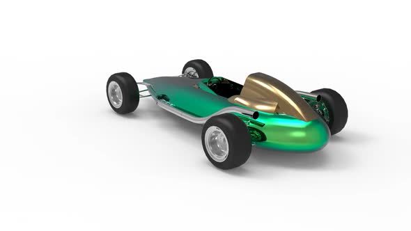 Old-fashioned racing car in classic style