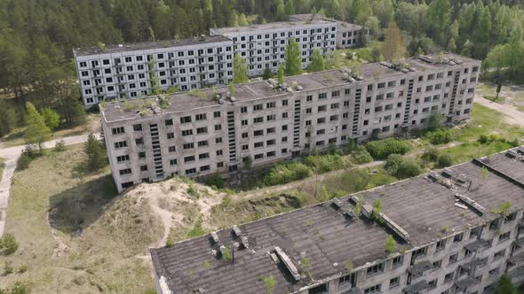 Abandoned Houses after Nuclear Disaster