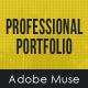 Professional Portfolio Muse Template - ThemeForest Item for Sale