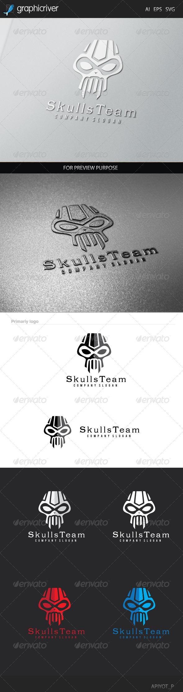 Skulls Team Logo