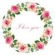Floral Background with Vintage Label - GraphicRiver Item for Sale