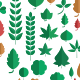 Leaves Flat Style Pack - GraphicRiver Item for Sale