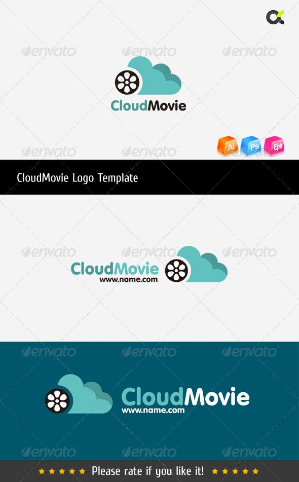 CloudMovie Logo Template