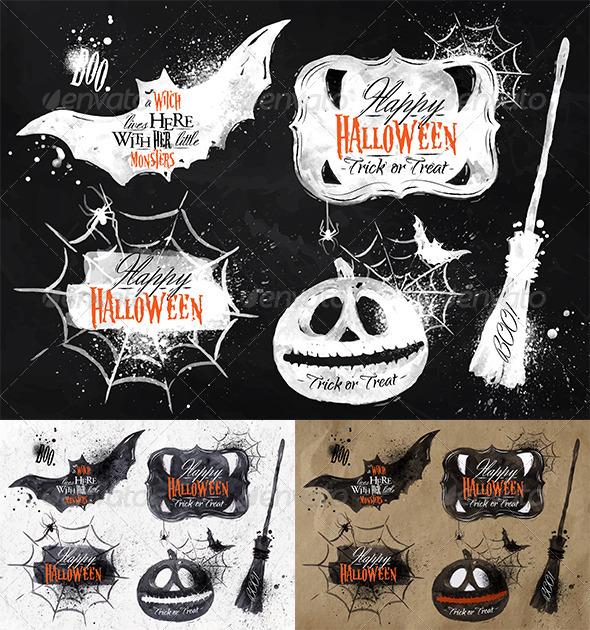 Halloween Set Symbols