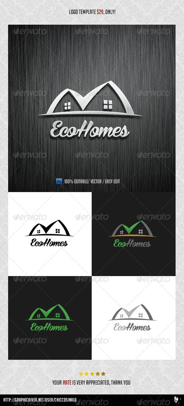 Eco Homes Logo Template