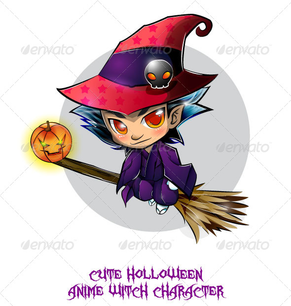 Halloween Anime Witch