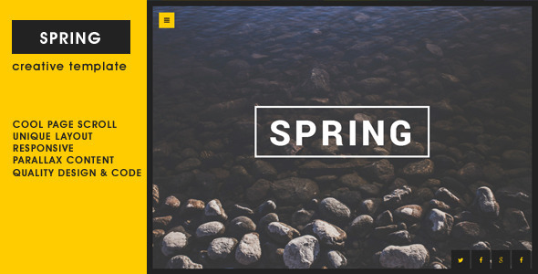 Spring – Creative One Page Template