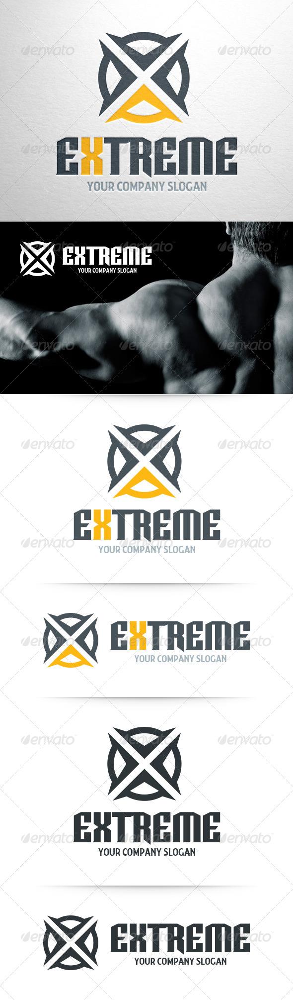 Extreme - Letter X Logo