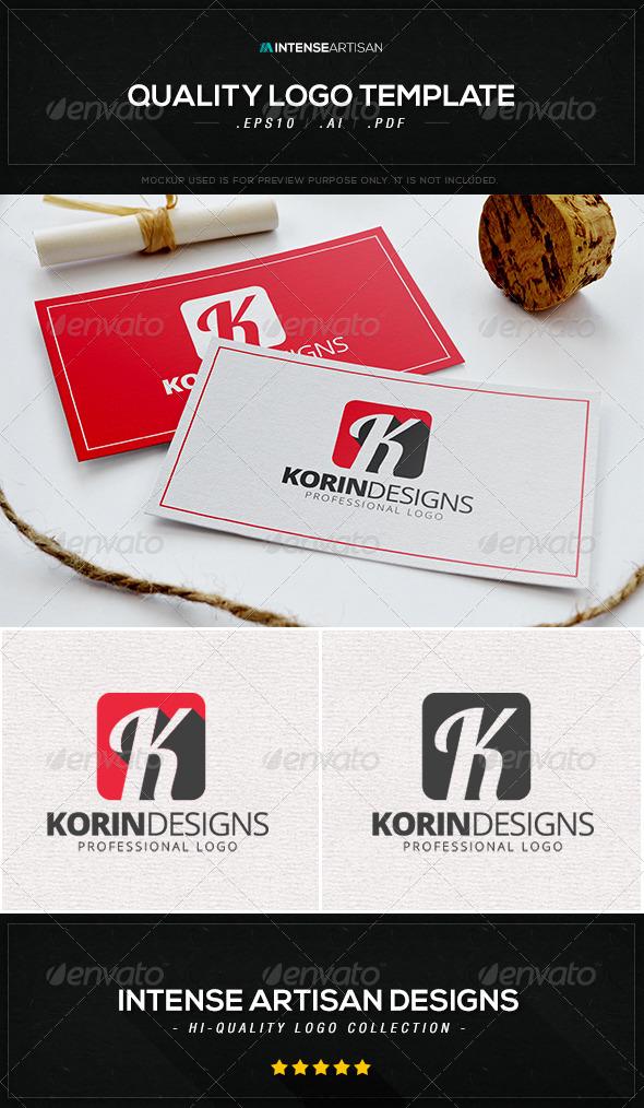 Korin Designs Logo Template