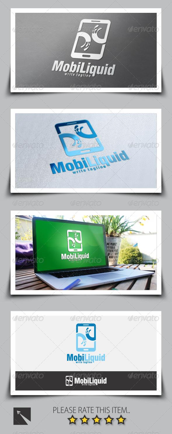 Mobile Liquid Logo Template