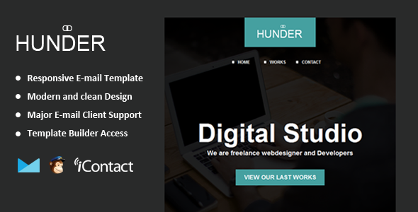 Hunder - Responsive Email + Themebuilder Access