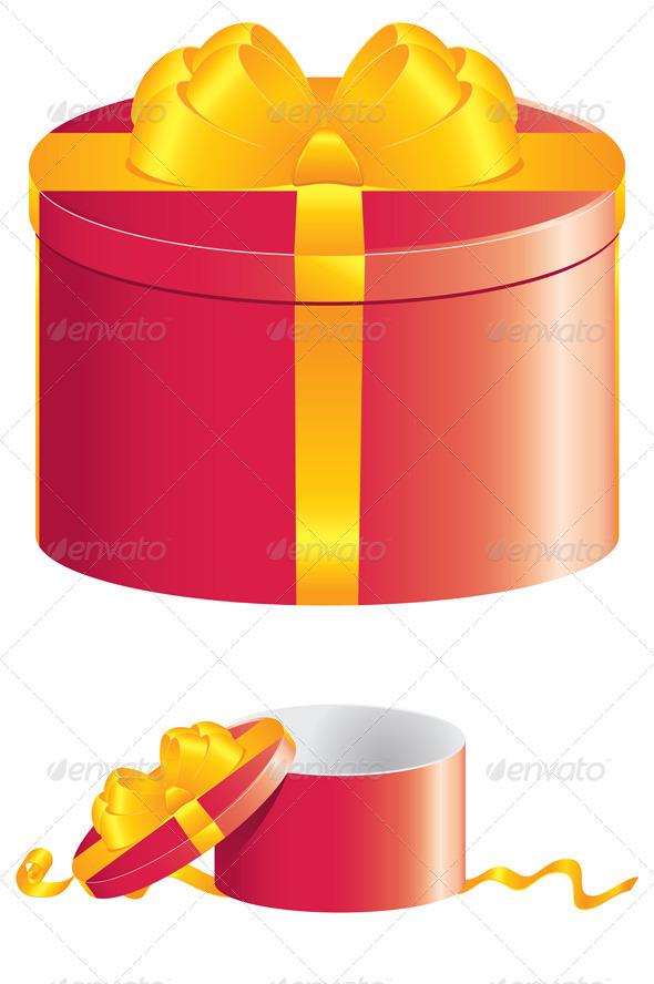 Red Round Gift Box