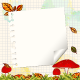 Colorful Autumn Background with Notepaper - GraphicRiver Item for Sale