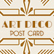 Wedding Save the Date Post Card - Art Deco 03 - GraphicRiver Item for Sale