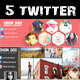 twitter header cover designs - GraphicRiver Item for Sale