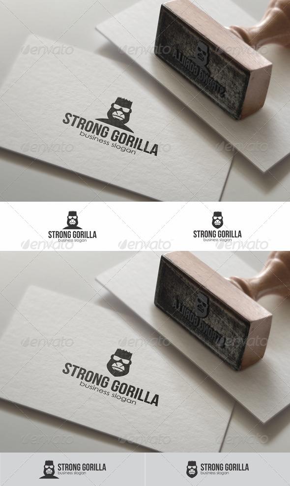 Strong Gorilla Head Logo Template