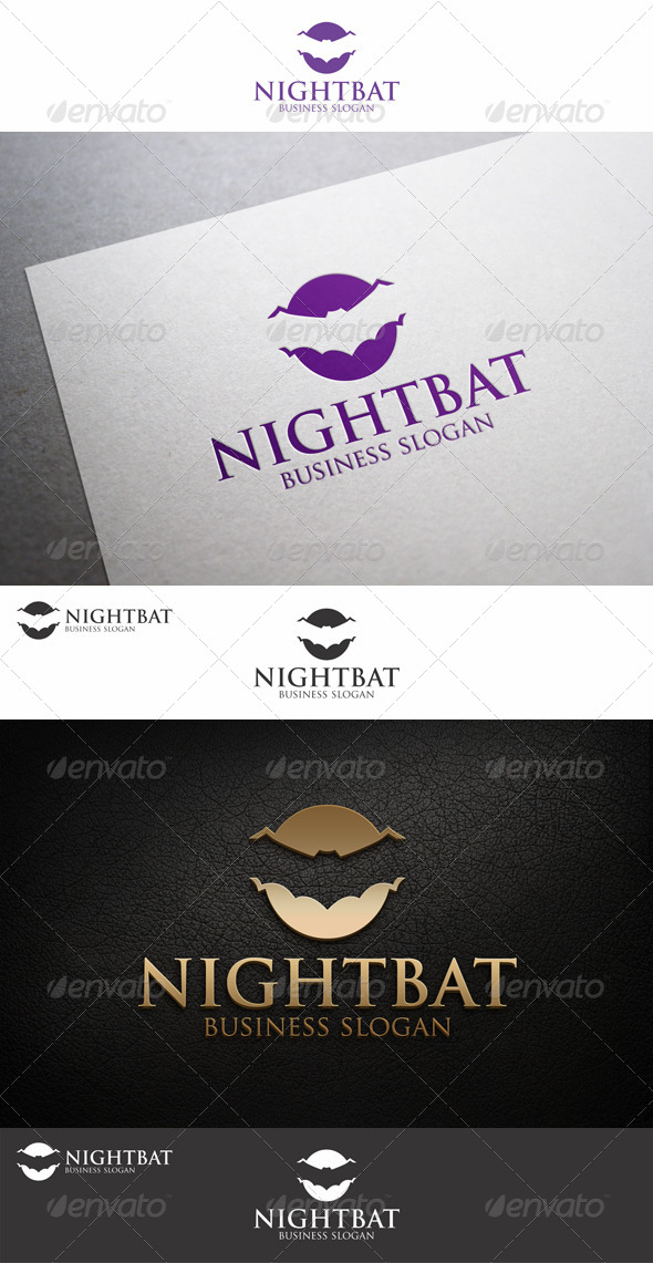Night Bat Creative Logo Template