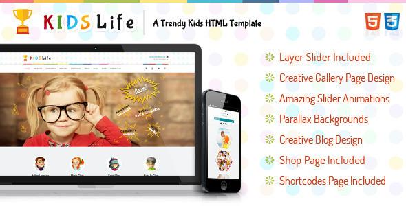 Kids Life - Trendy HTML Template