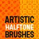 Halftone Retro or Vintage Effect; Unique Brushes - GraphicRiver Item for Sale