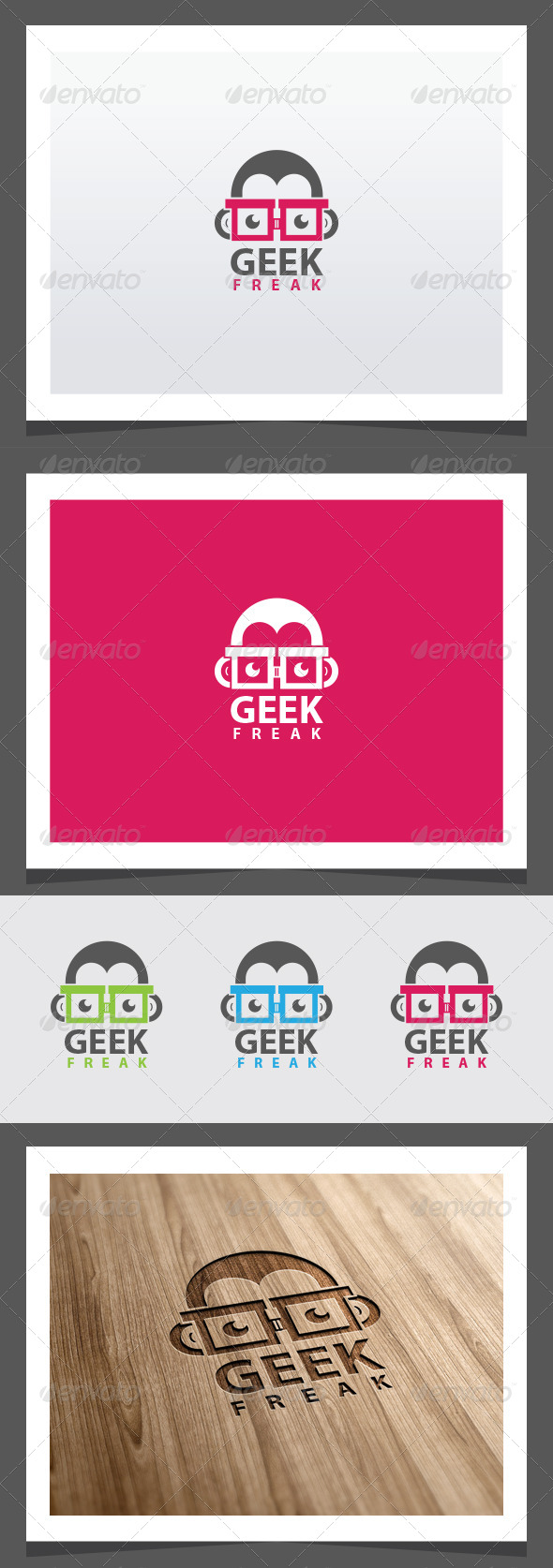 Geek Freak Logo Template