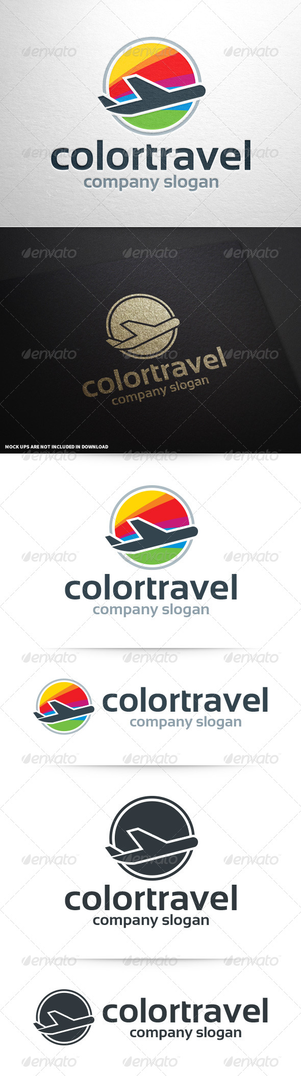 Color Travel Logo Template