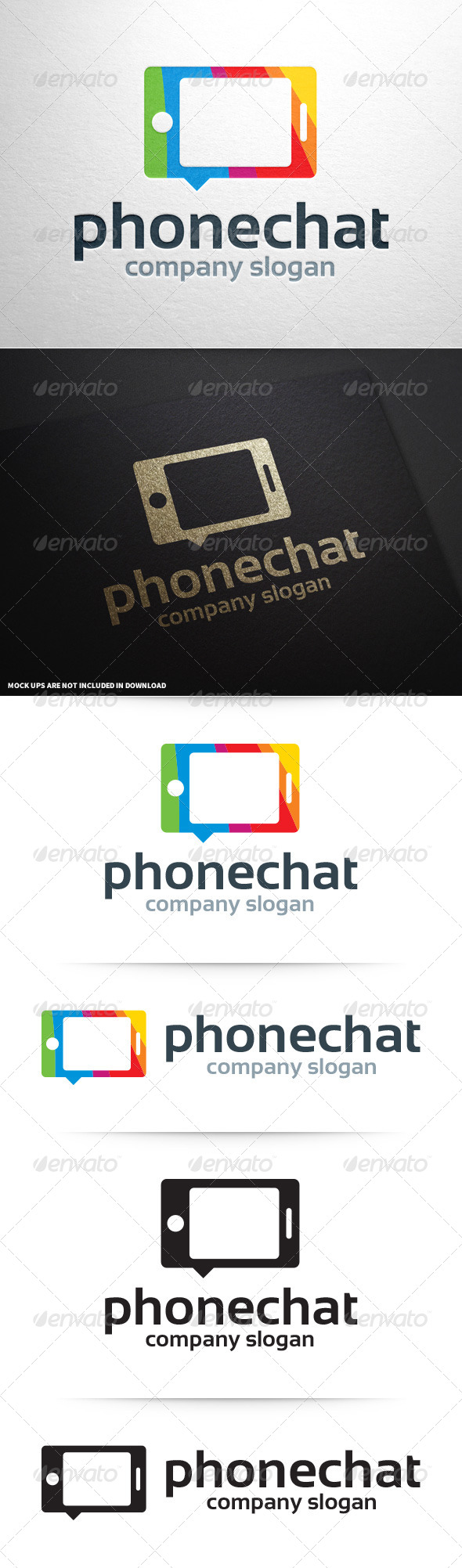 Phone Chat Logo Template