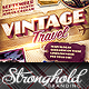 Download Vintage Travel Decals Poster Template from GraphicRiver