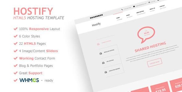 Hostify - Responsive HTML5 Hosting Template