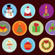 10 Flat Christmas Icons  - GraphicRiver Item for Sale
