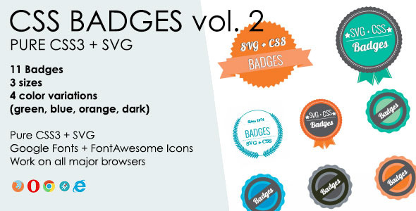 CSS3 + SVG Badges