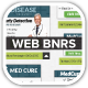 Med Vac Cure Health Care Web Banners - GraphicRiver Item for Sale