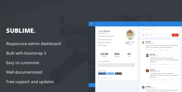 Sublime - Web Application Dashboard + Customizer Access