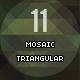 11 Mosaic Triangular Background - GraphicRiver Item for Sale