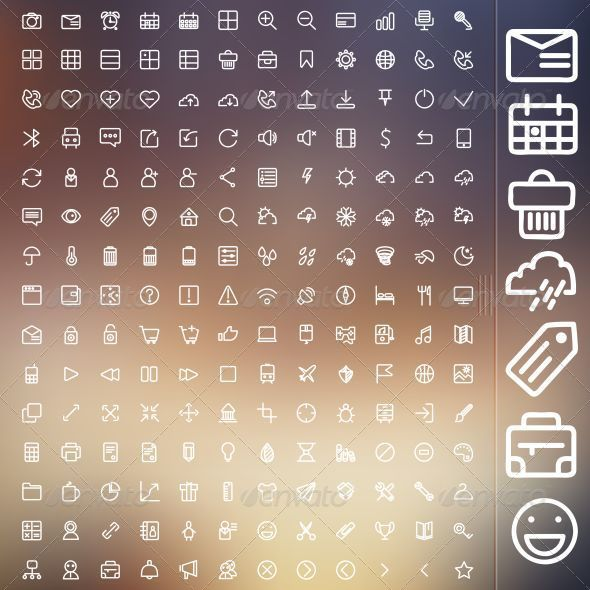Set Of Icons For Web And UI