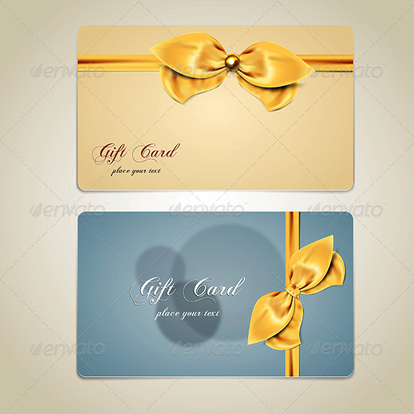 Gift Cards with Bows and Ribbons