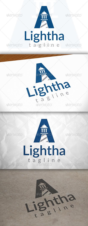 Lighthouse A Letter Logo