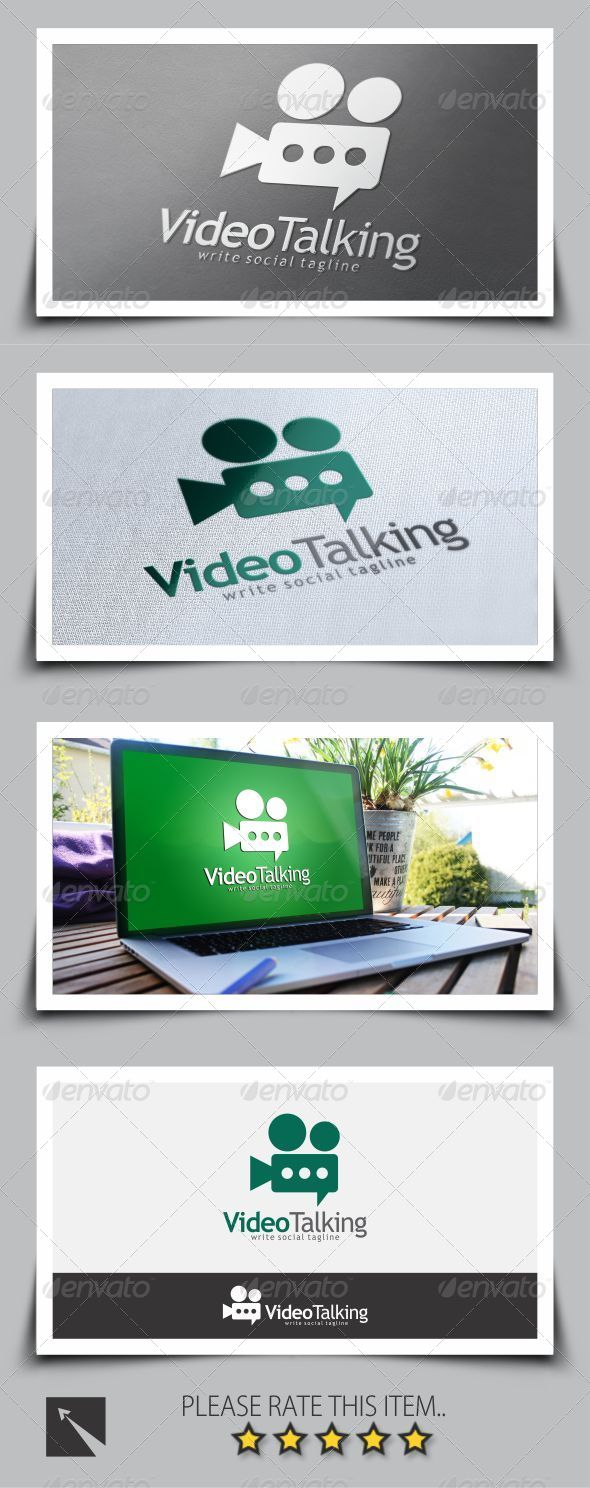 Video Chat Logo Template
