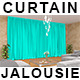 Curtain and Jalousie Mock-up - GraphicRiver Item for Sale
