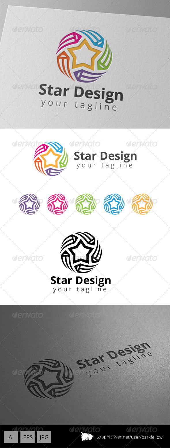 Star Art Pencil Graphic Design Studio Logo