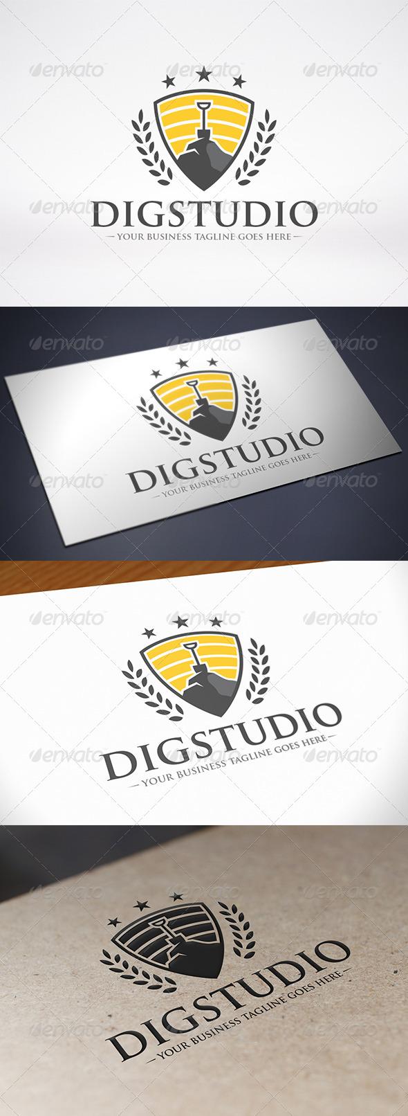 Dig Studio Logo Template