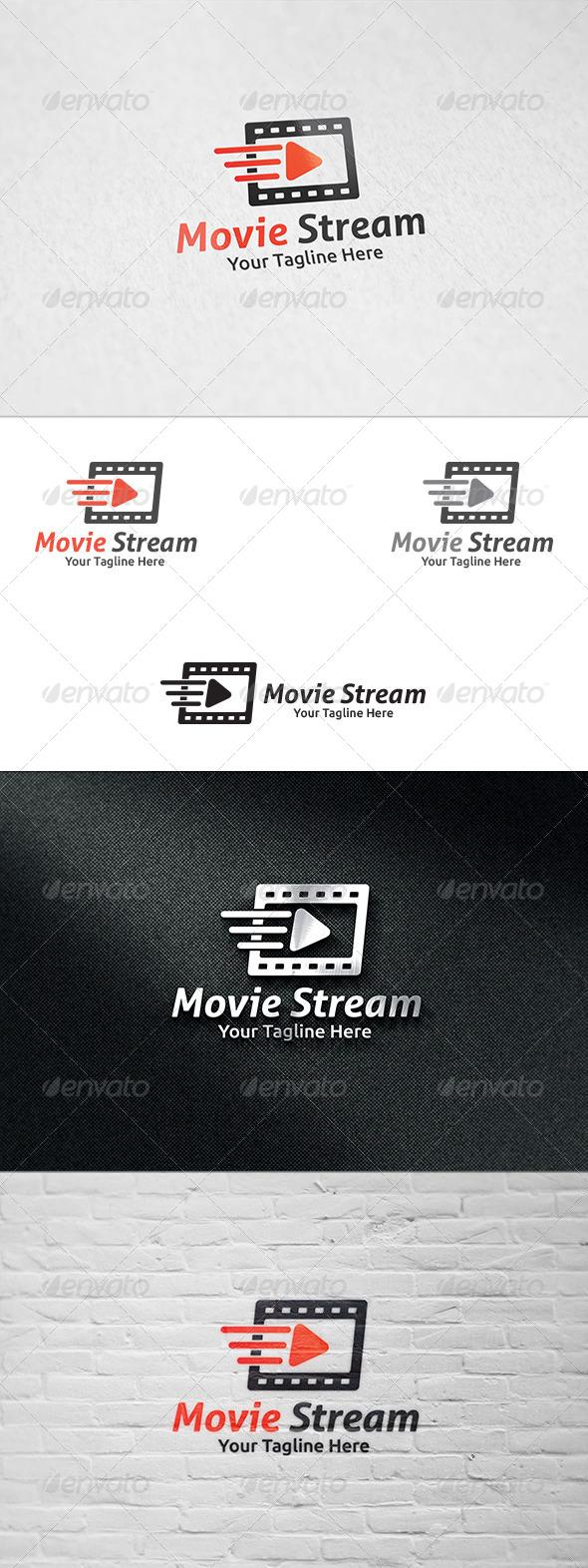 Movie Streaming - Logo Templae