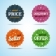 Special Set of Premium Sale Badges in Flat Style.  - GraphicRiver Item for Sale