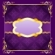 Elegant Frame with Ribbons on Seamless Ornament - GraphicRiver Item for Sale