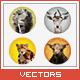 Triangled Animals Portraits Set #1 - GraphicRiver Item for Sale