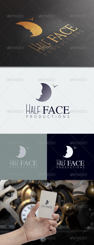 Half Face Logo Template