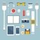 I'm Fond of Gadgets. Vector Set Flat Business - GraphicRiver Item for Sale